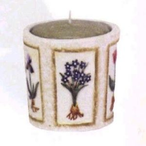 Botanical Ceramic Votive Candle Holder #10140 (NWT